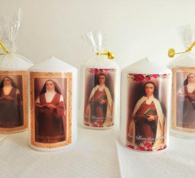 Voštana svijeća s likom sv. Maravillas od Isusa