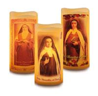 LED svijeća s likom sv. Maravillas od Isusa